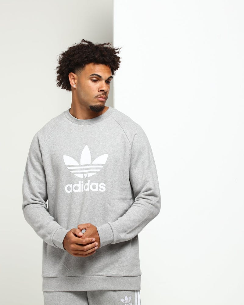 Adidas Trefoil Crew Grey Heather