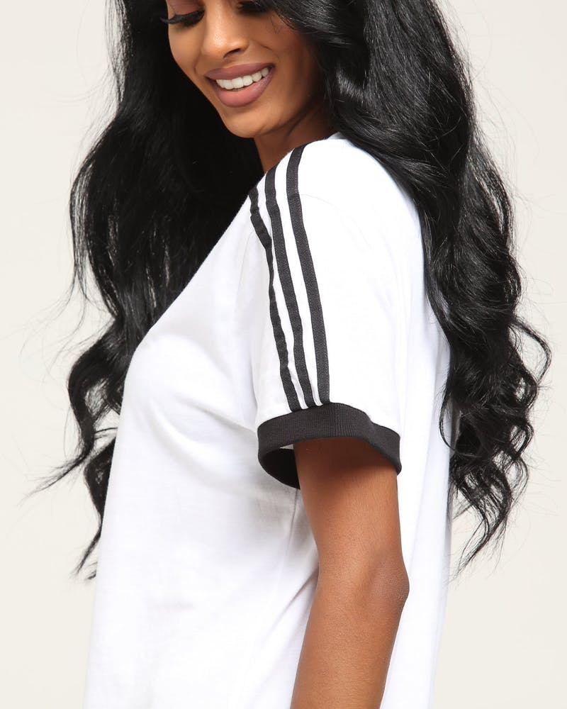 Adidas Women's 3 Stripes Tee White