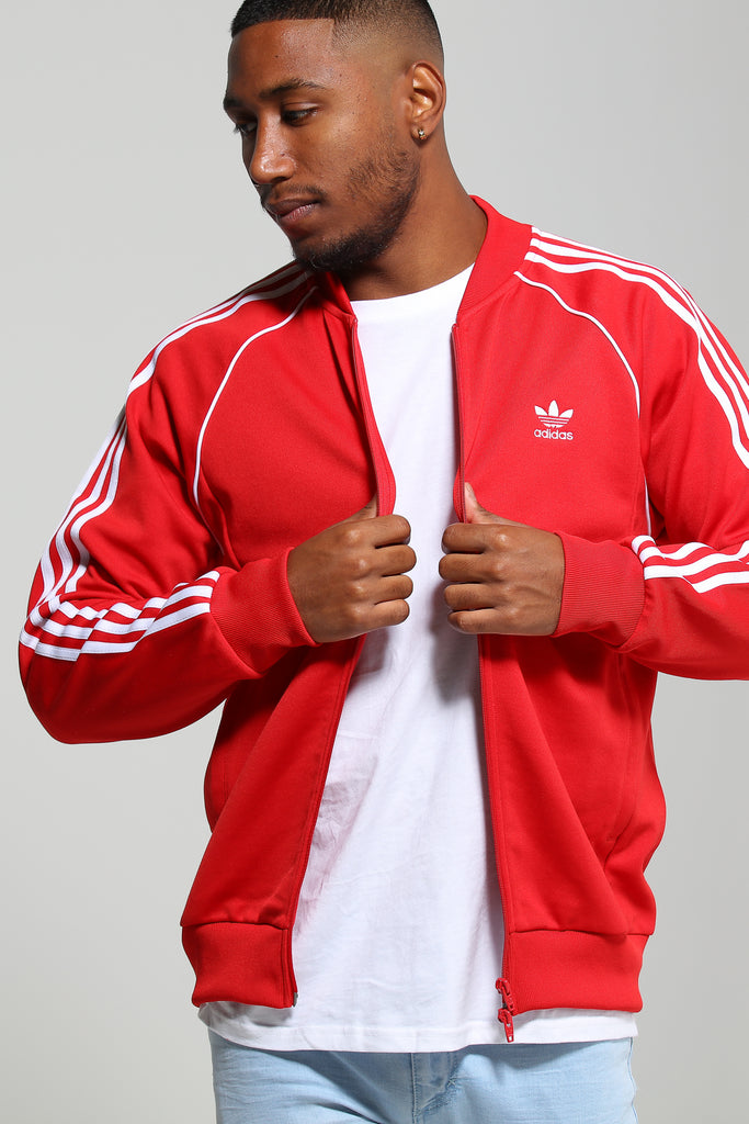 Adidas SST Track Top Red