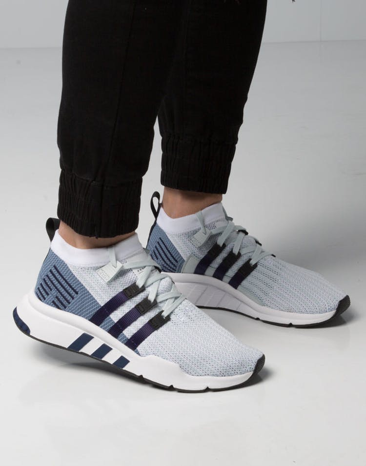 best loved b41a7 e9497 Adidas EQT Support Mid ADV Primeknit White/Blue/Black