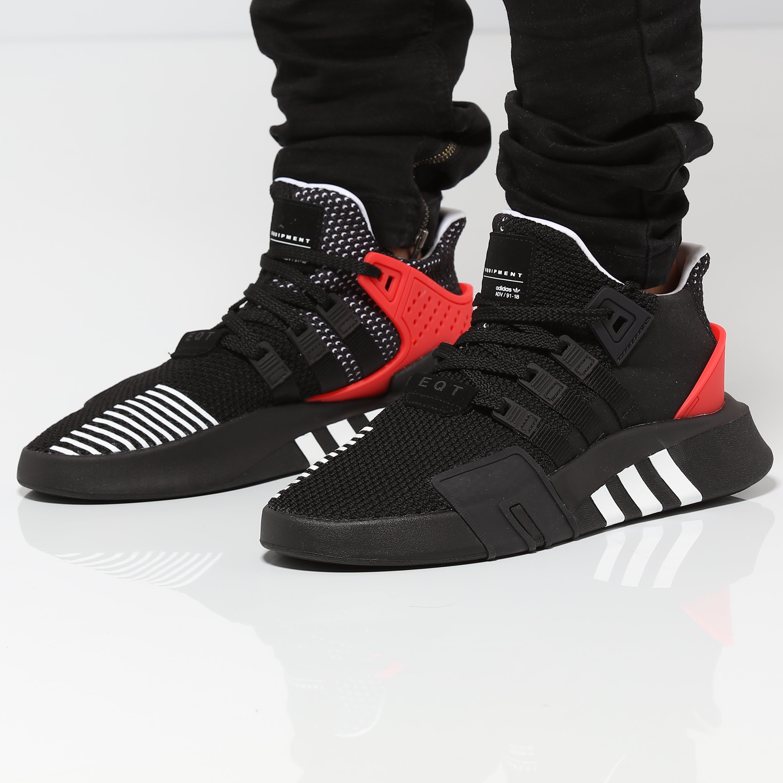 Adidas Originals EQT BASK ADV BlackWhiteRed AQ1013  AQ1013