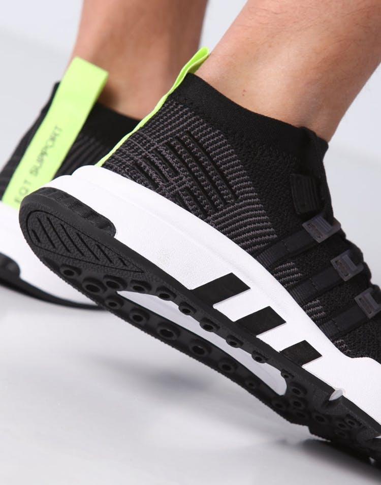 the latest 07b96 b88db Adidas EQT Support Mid ADV Primeknit Black/White