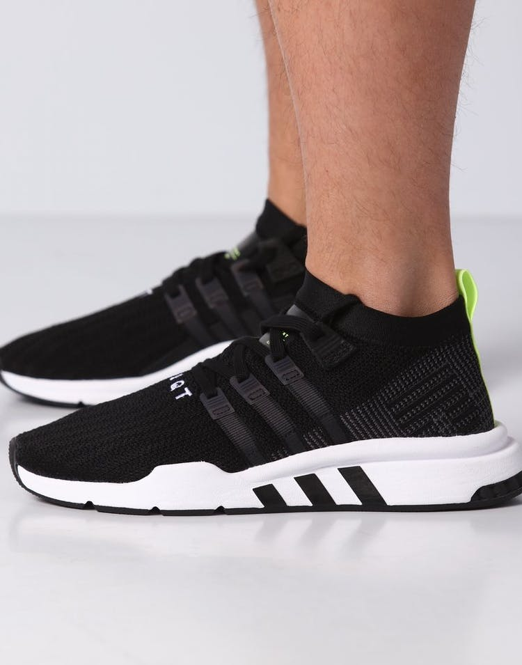the latest eefbf f3d12 Adidas EQT Support Mid ADV Primeknit Black/White