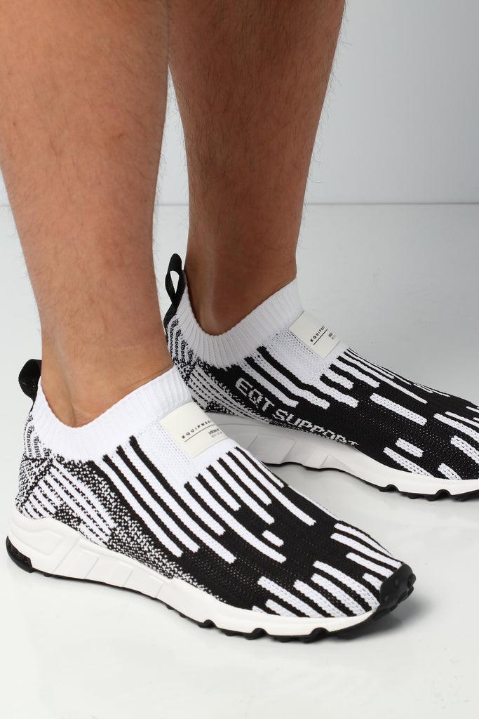 ADIDAS ORIGINALS EQT Support Sk Sock Pk Primeknit White Black New Shoes B37524
