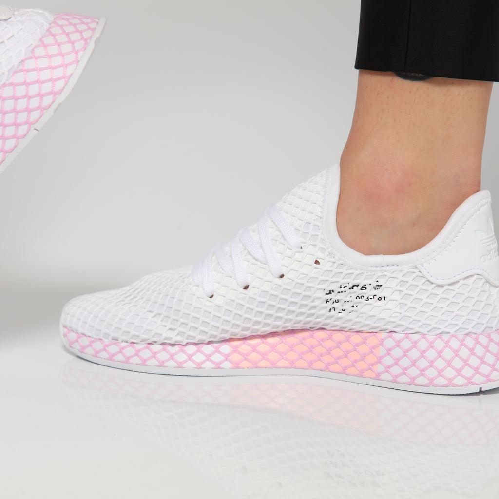 Adidas Women's Deerupt Runner White/Pink