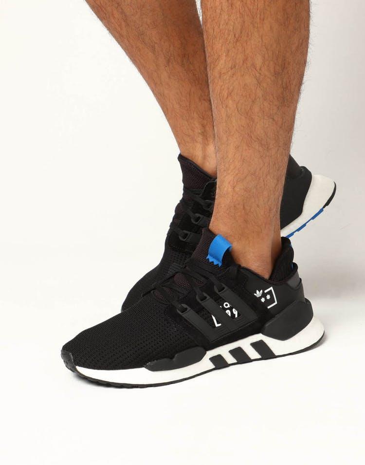 size 40 231c8 0adee Adidas EQT Support 91/18 Black/Blue