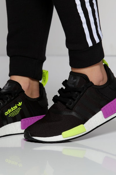 Adidas NMD R1 Black/Purple/Neon