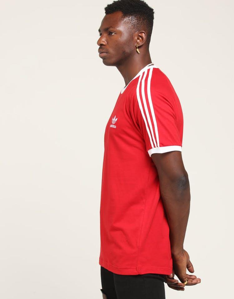 16267b34d1 Adidas 3 Stripes Tee Red