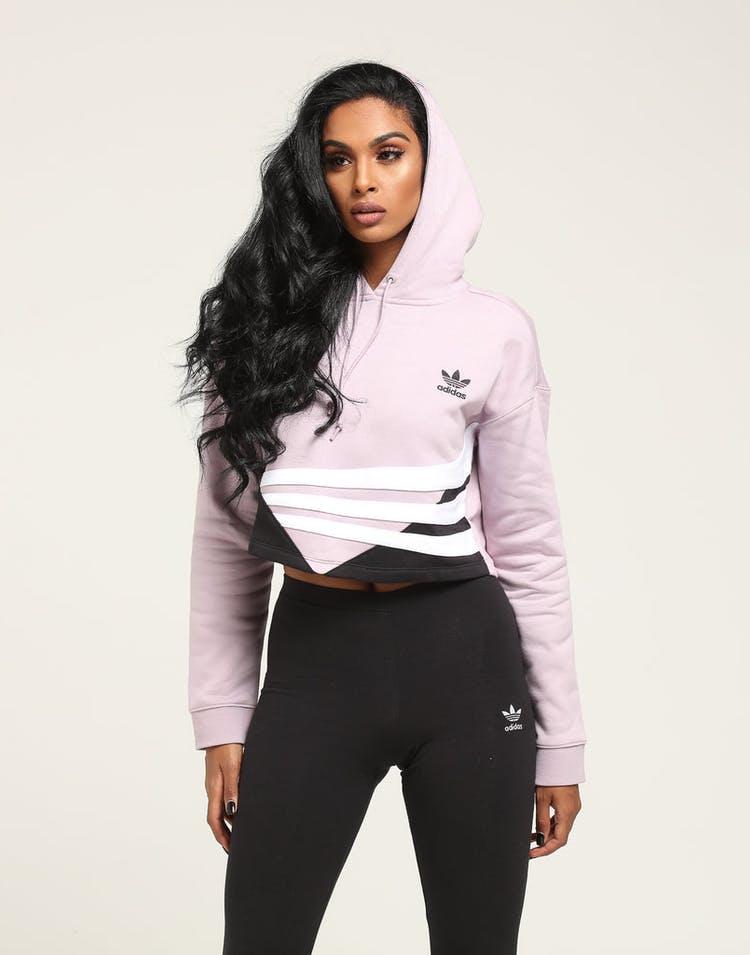 fcb5254ab8 Adidas Women's Cropped Hoodie Purple/White