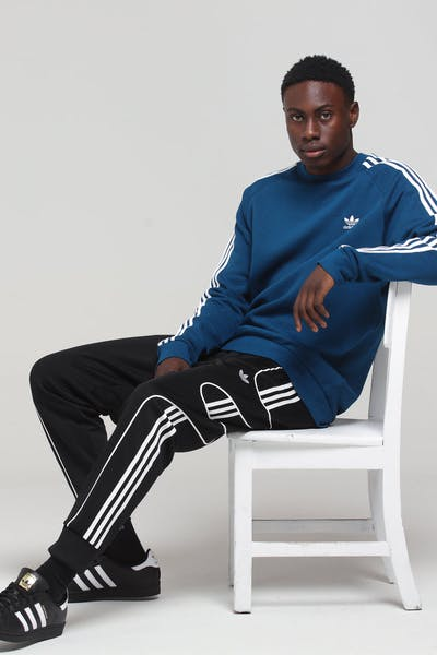 Adidas 3-Stripe Crew Dark Blue