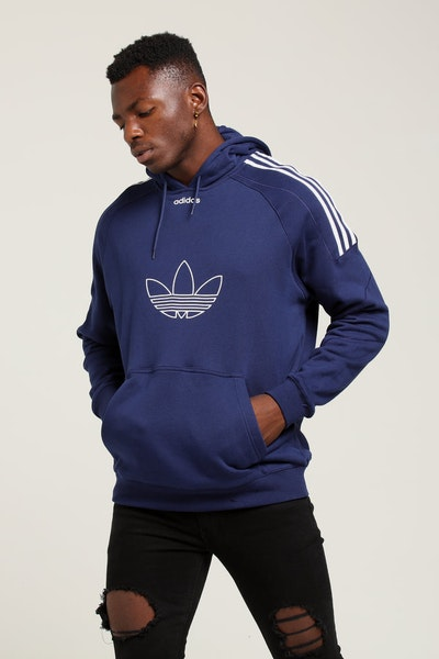 Adidas Flock Hoody Dark Blue