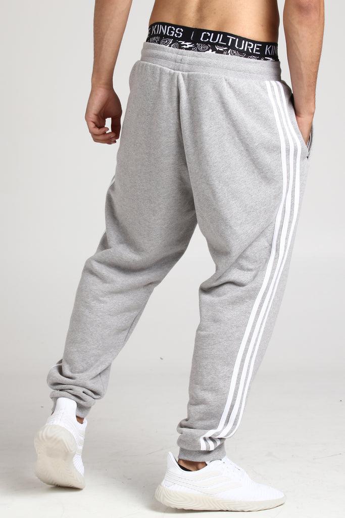 adidas men's vice 3 stripe slim track pants black white