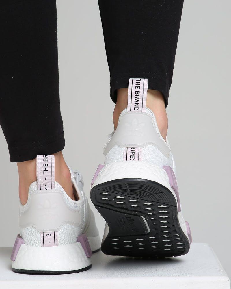 Adidas Women S Nmd R1 White Purple Culture Kings Us