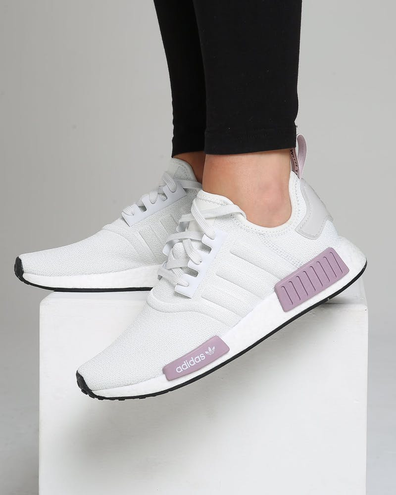 Adidas Women S Nmd R1 White Purple Culture Kings Us