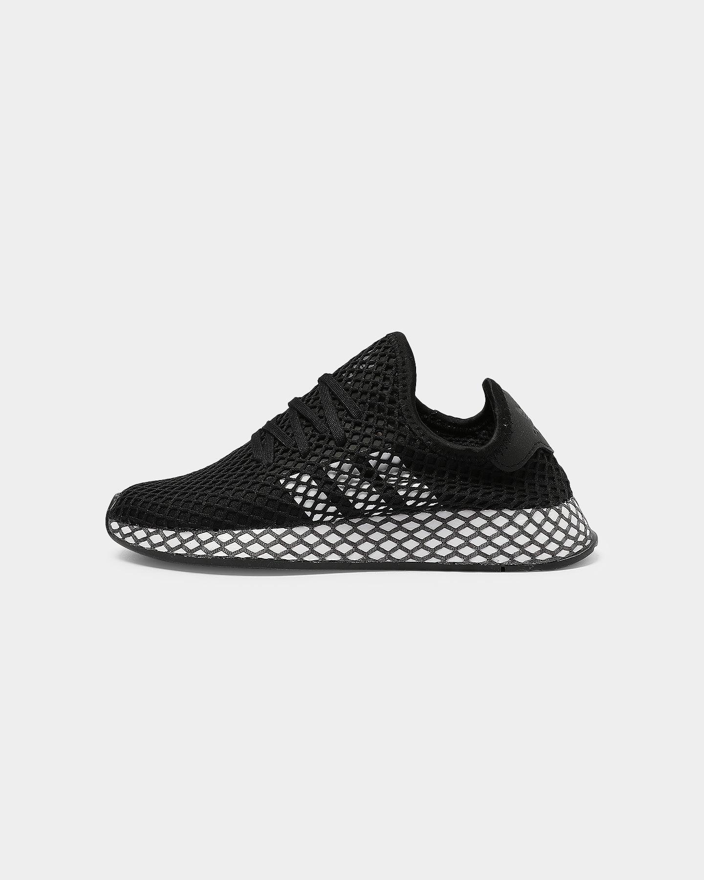 Adidas Kids Deerupt Runner J BlackWhiteGrey