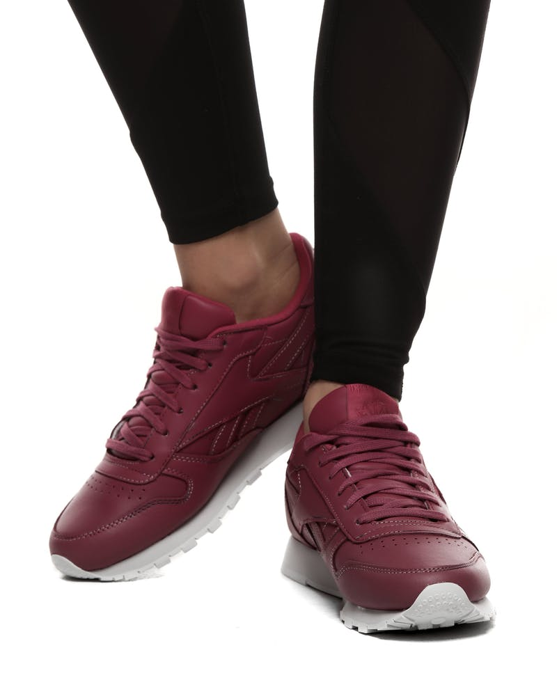 Reebok Women's Classic Leather Berry/White