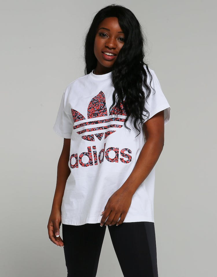 c20150e064 Adidas Originals Active Icons Trefoil Tee White