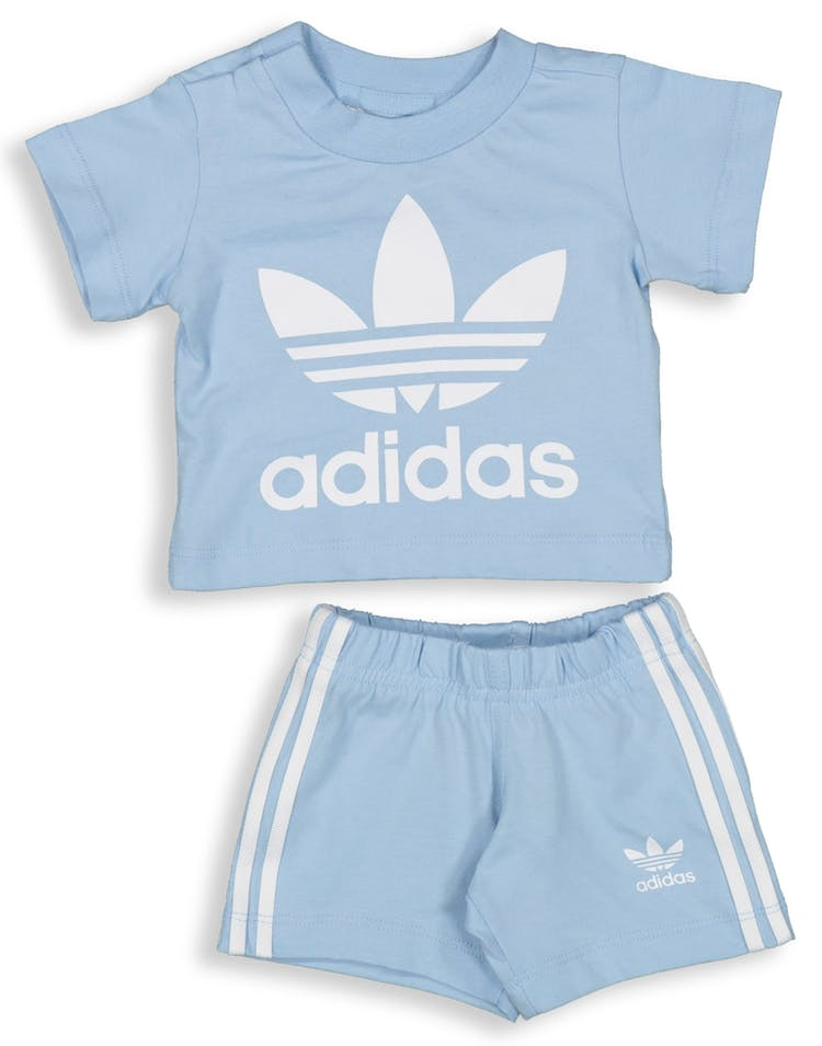 f8758e7db4 Adidas Kids Short Tee Set Light Blue/White