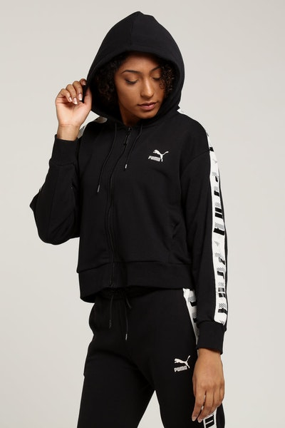 Puma Revolt Full Zip Hooded Sweat Black