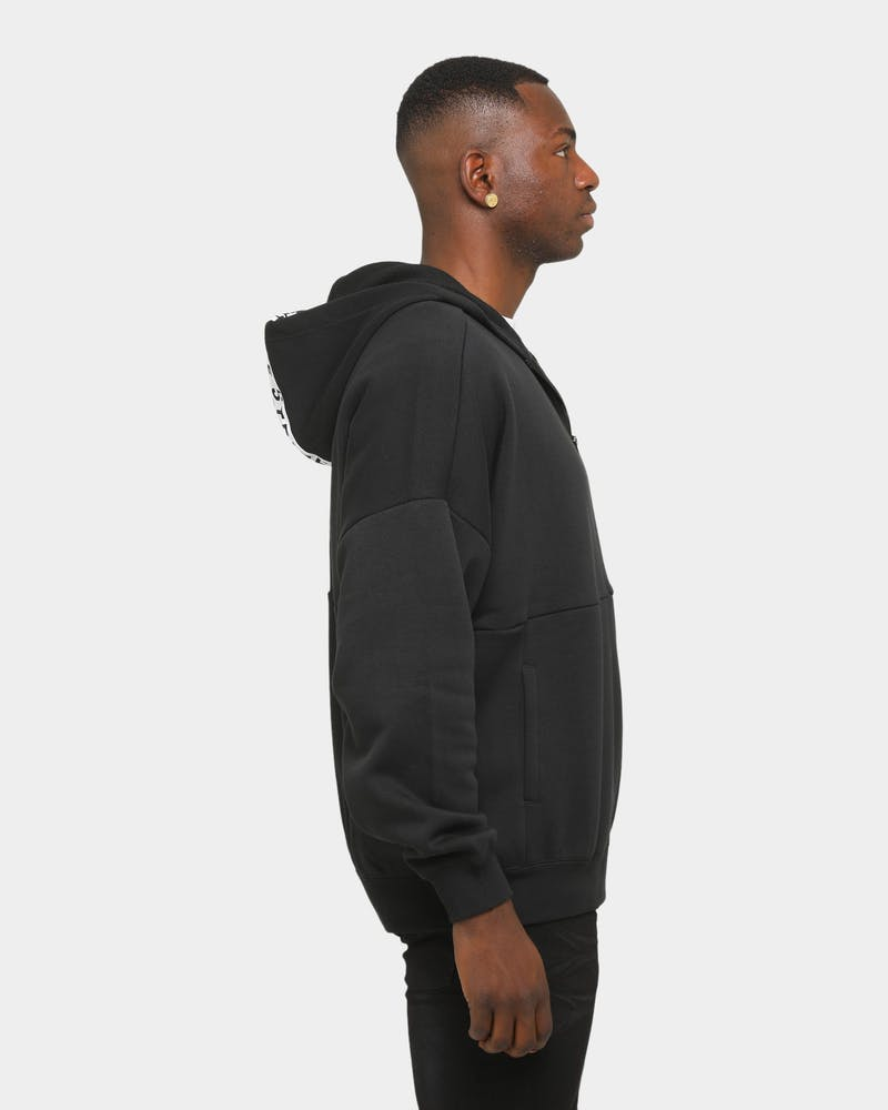 Adidas Men's Must Haves Word Full-Zip Hoodie Black
