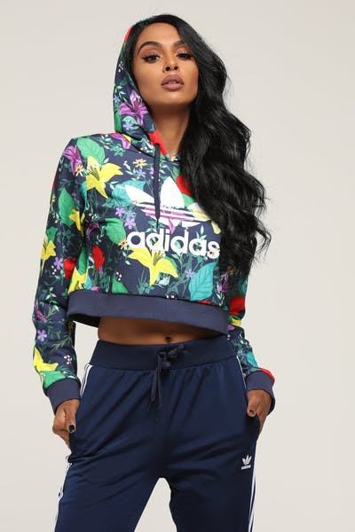 Adidas Women's Blossom Of Life Hoodie Multi-Coloured