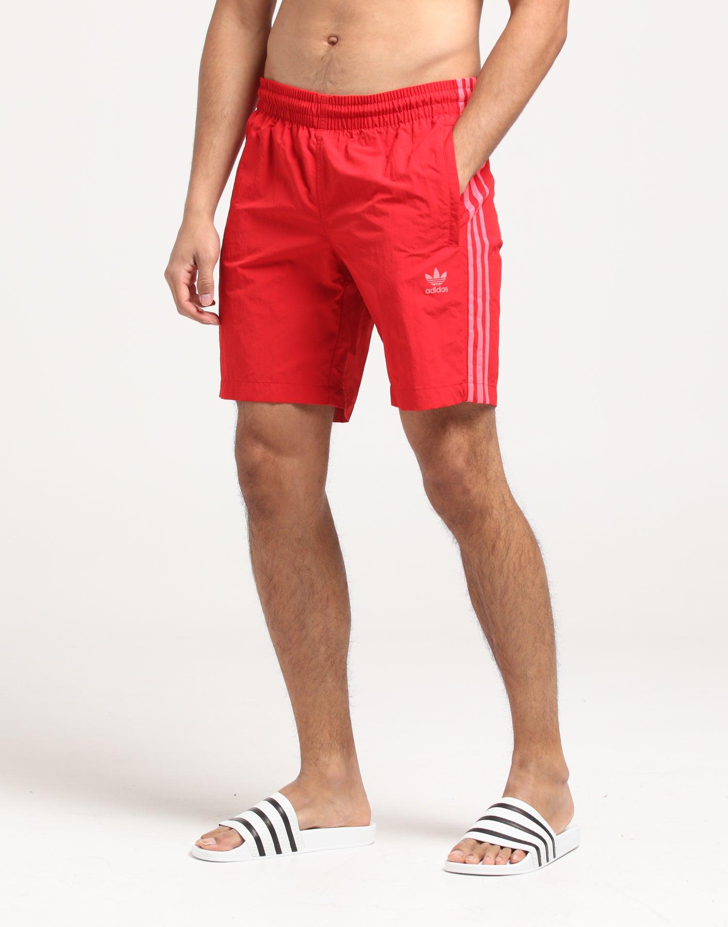 adidas 3 stripes swim shorts