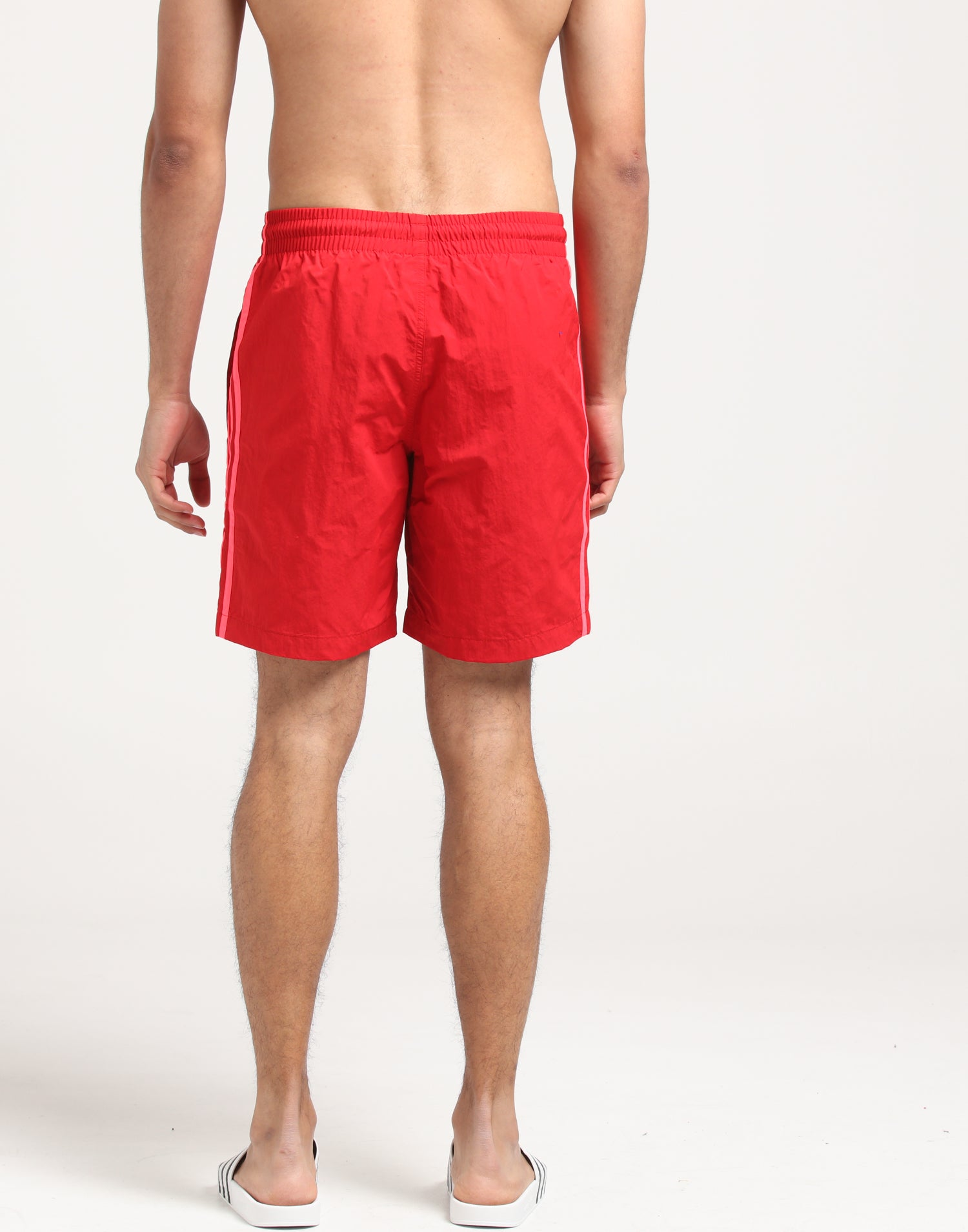 adidas 3 stripes swim shorts