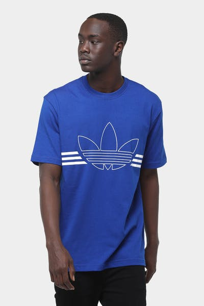 Adidas Outline Trefoil Tee Royal/White