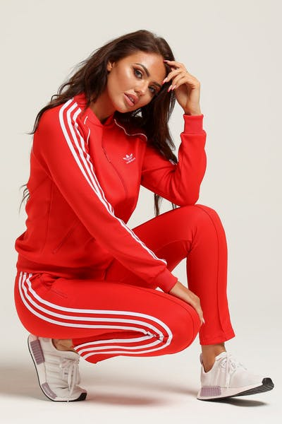 Adidas Women's Love Tracksuit Jacket Red