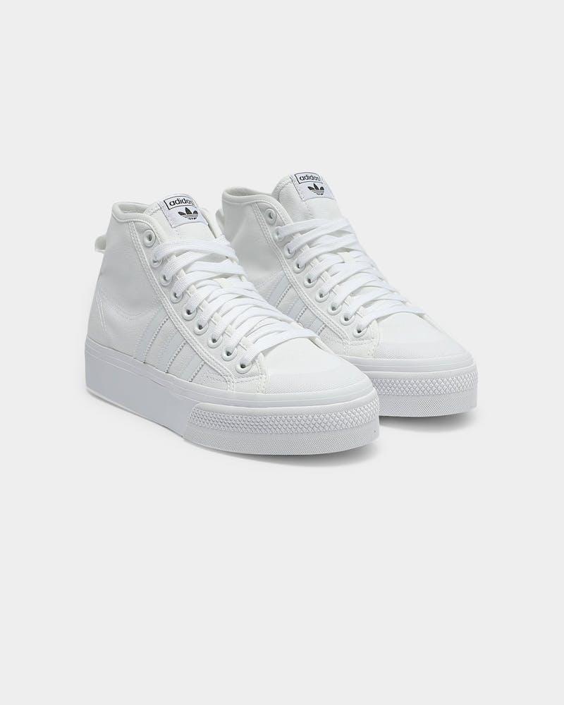 completamente Una buena amiga hostilidad  Adidas Nizza Platform Mid White/White/White   Culture Kings US