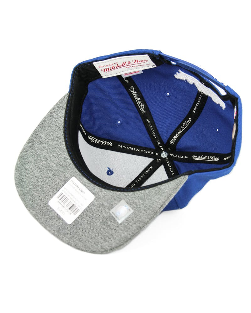 Mitchell & Ness Warriors Melangle Infill Snapback Royal/grey