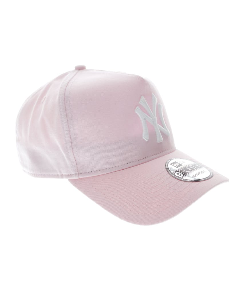 New Era Yankees 9FORTY A-Frame Washed Snapback Pink/white