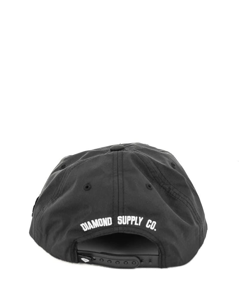Diamond Supply UN Polo Nylon Snapback Black