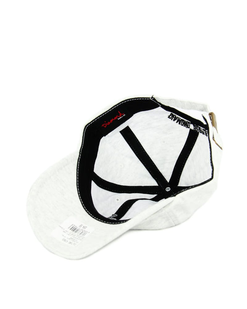 Diamond Supply UN Polo Sports Cap Strapback Light Grey