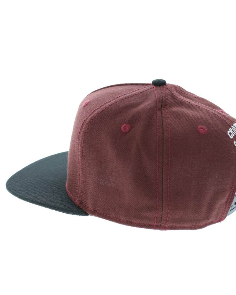 Cocaine & Caviar Snapback Burgundy/black