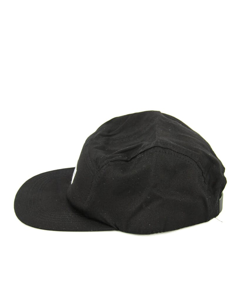 Hendrick Five Panel Cap Black