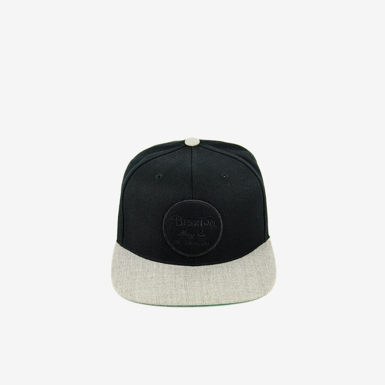 Brixton Wheeler Snapback Black/grey