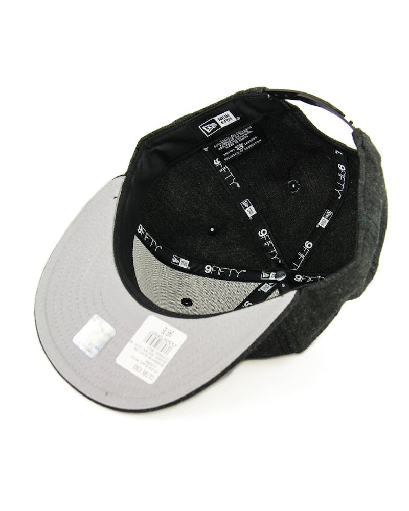 New Era Raiders Heather Crisp Snapback Black/white
