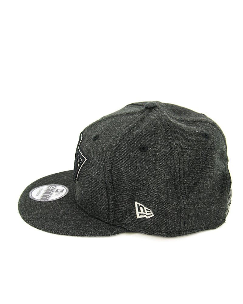 New Era Kings Heather Crisp Snapback Black/grey