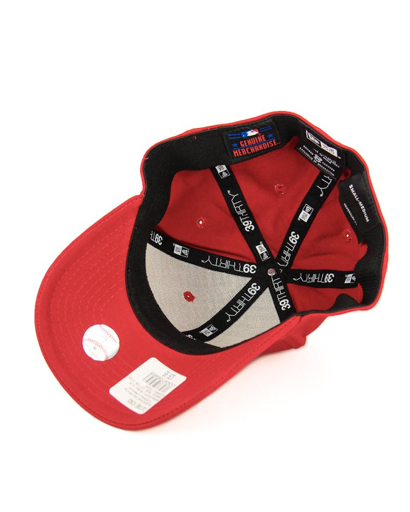 New Era Yankees 3930 Cotton Stretch Scarlet/white