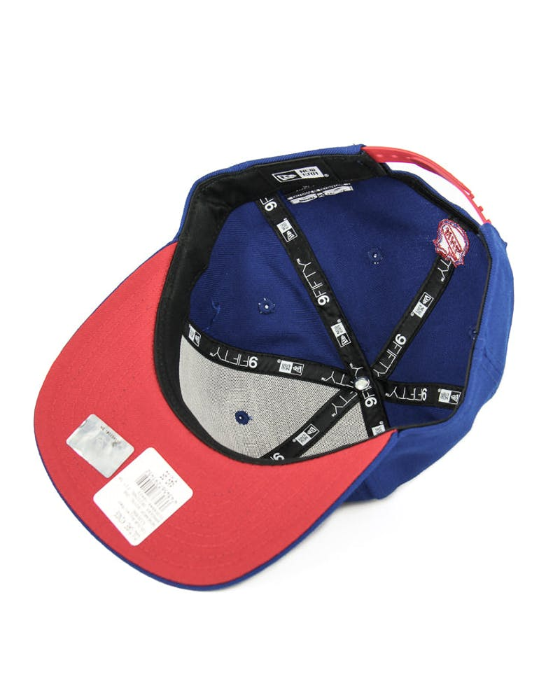 New Era Rangers Original Fit Snapback Royal/red