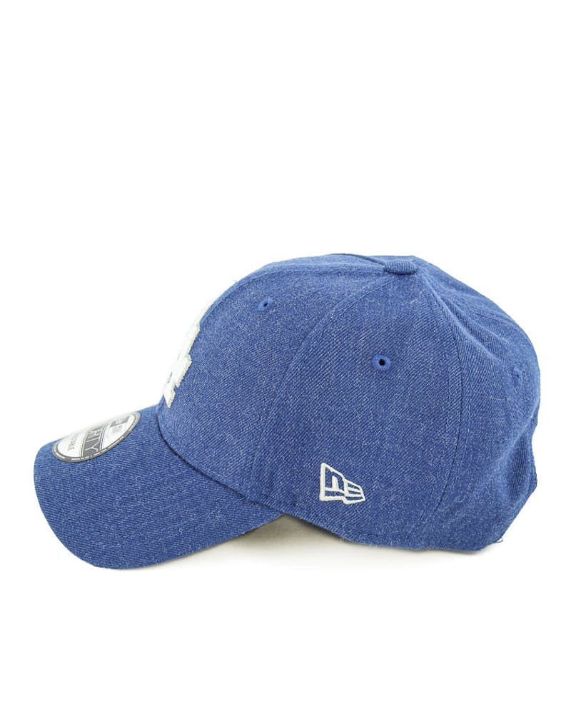 New Era Dodgers 9FORTY Heather Crisp Snapback Dark Royal/whit