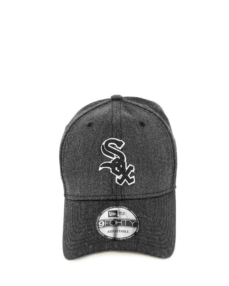 New Era White Sox 9FORTY Heather Crisp Snapback Black/white