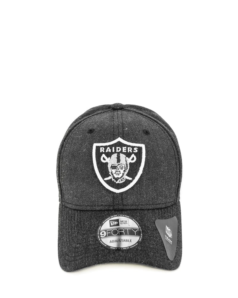 New Era Raiders 9FORTY Heather Crisp Snapback Black