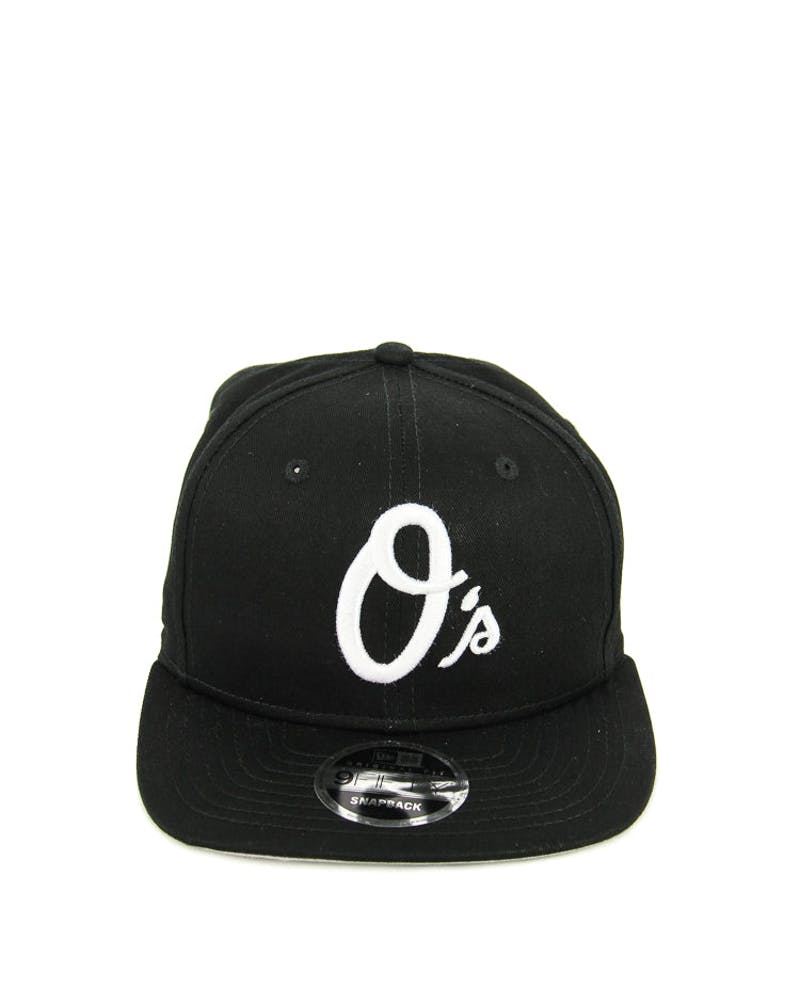 New Era Orioles Cotton Side of Snapback Black/white