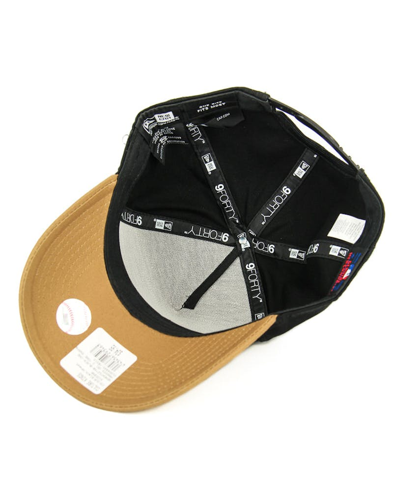 New Era Yankees Gel 2 Tone Snapback Black/wheat
