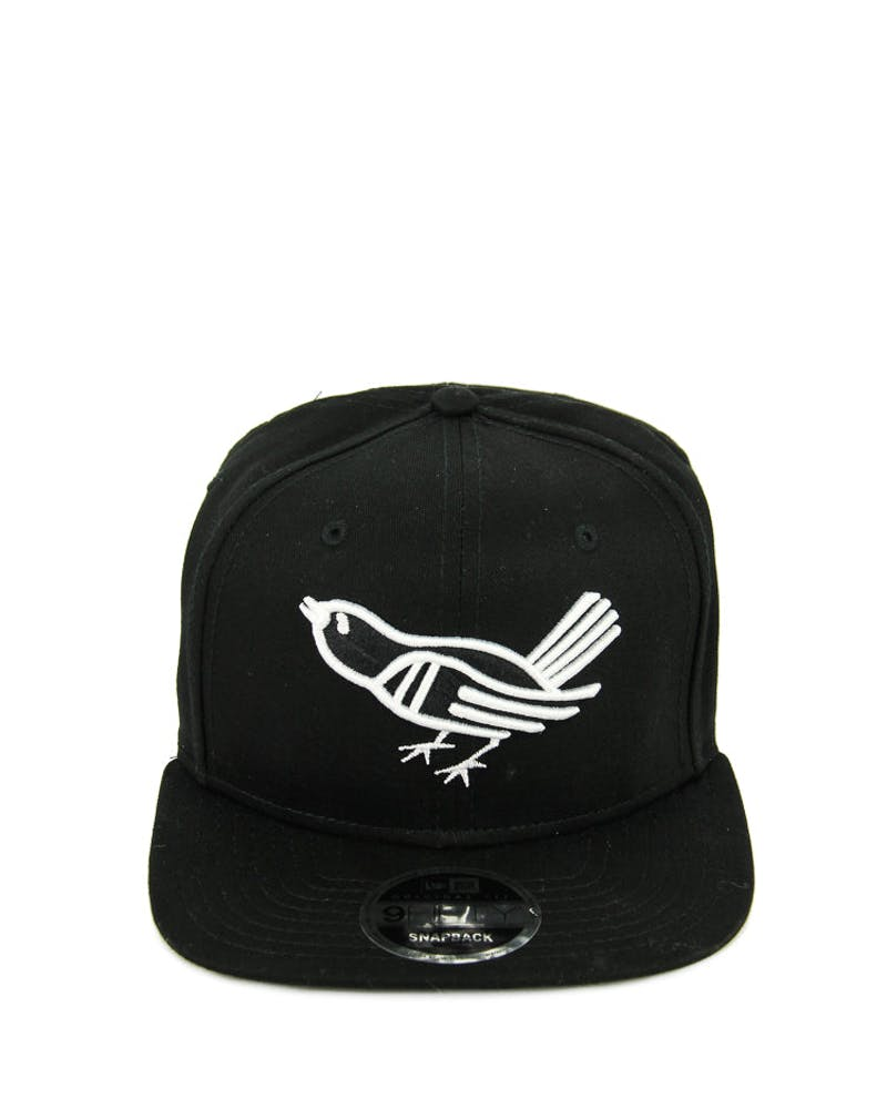 New Era Orioles Bird Original Fit Snapback Black/white