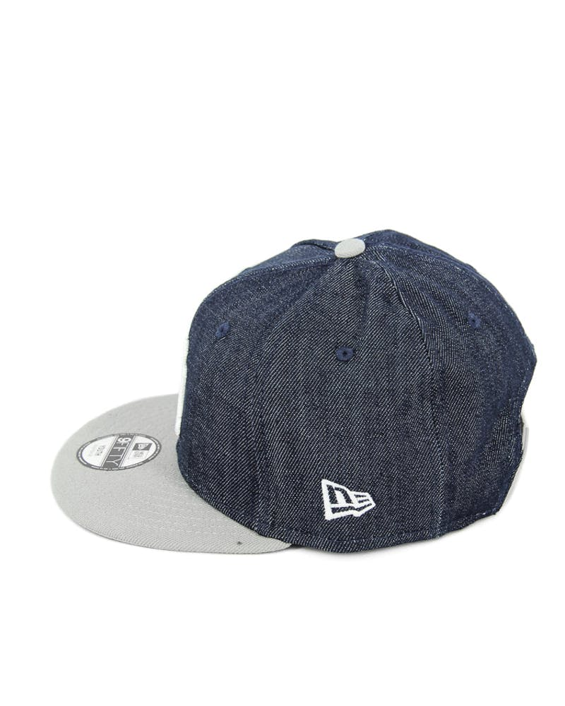 New Era Youth Yankees Denim Snapback Denim/grey