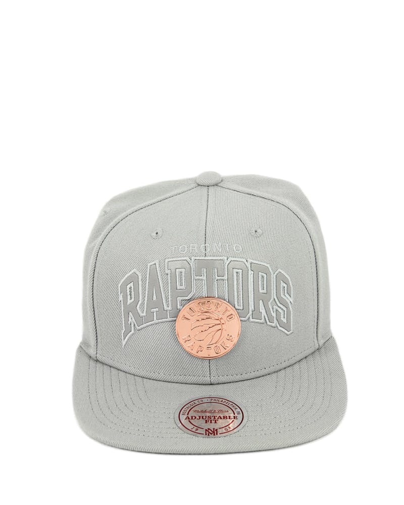Mitchell & Ness Raptors Gold Arch Logo ST Grey
