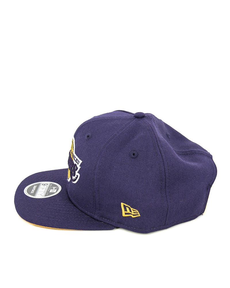 New Era Lakers Original Fit Snapback Purple/gold